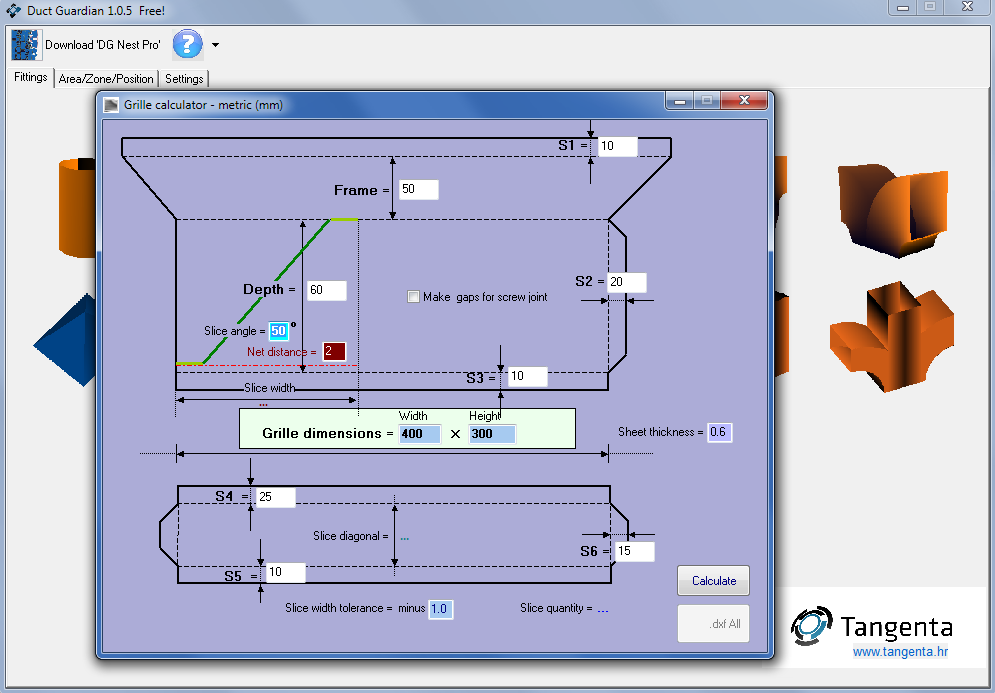TANGENTA Software | Ductwork & Nesting