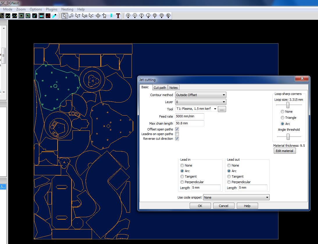 "TANGENTA Software | ""DG Nest Pro"" SheetCAM module support aprox  180"